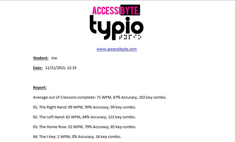 Typio screenshot