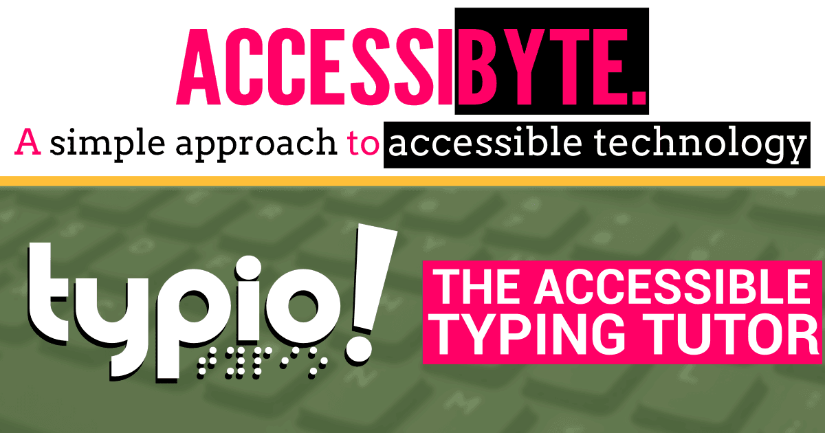 Typio: the accessible typing tutor!