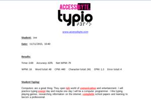 typio report