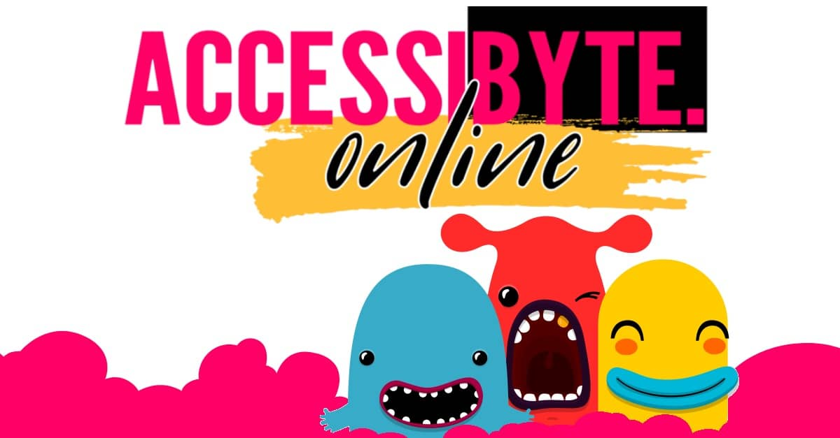 accessibyte online logo with typing pets