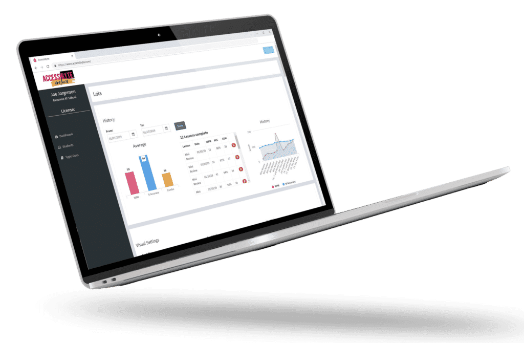 Laptop logged into Teacher Dashboard
