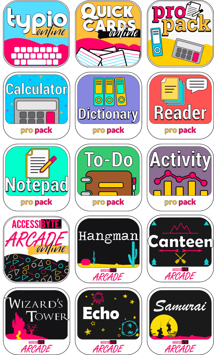 app icons tpio quicy cards arcade propack