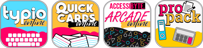 app icons typio quick cards arcade propack