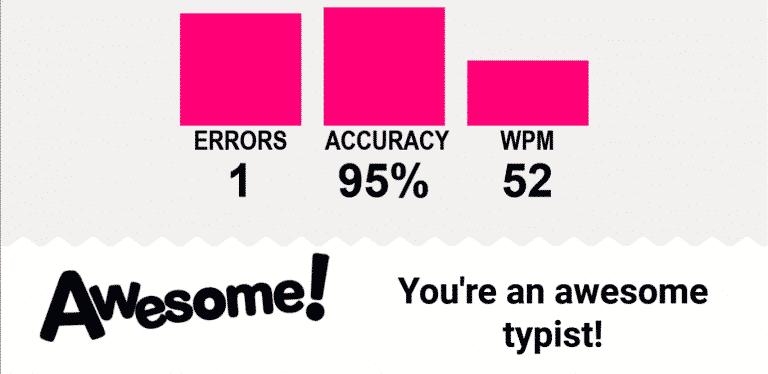 Typio score screenshot
